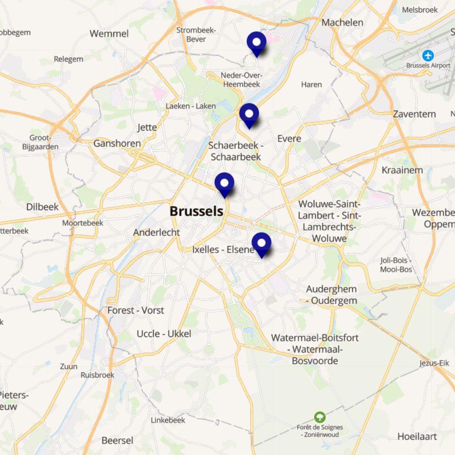 Carte adhérents du RAQ à Bruxelles